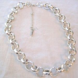 Silver Kenneth Cole Link Necklace